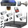 SUPERKIT Videosorveglianza FULL HD NVR 8 Canali + 4 telecamere (una è audio)